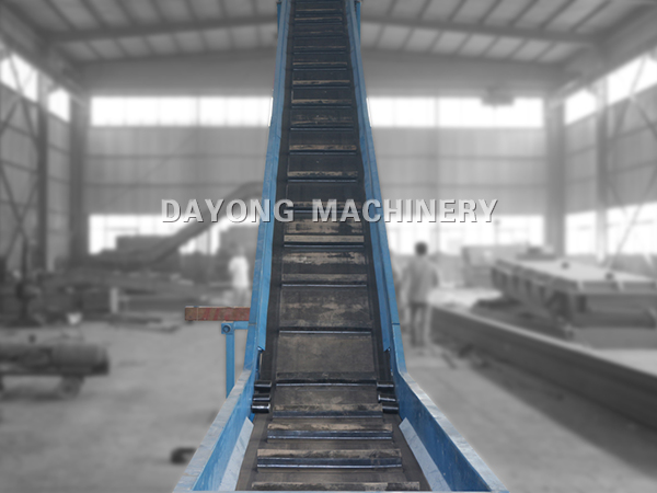 DJ Series Large Angle Apron Belt Conveyor